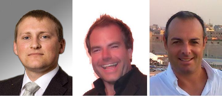 I partner dell'intervista, da sx a dx: – Norbert Stangl, Sales & Marketing Director Laserworld Group (CH) Ryan Hagan, Director ER Productions (UK) – Alberto Kellner, President Laser Entertainment (IT)