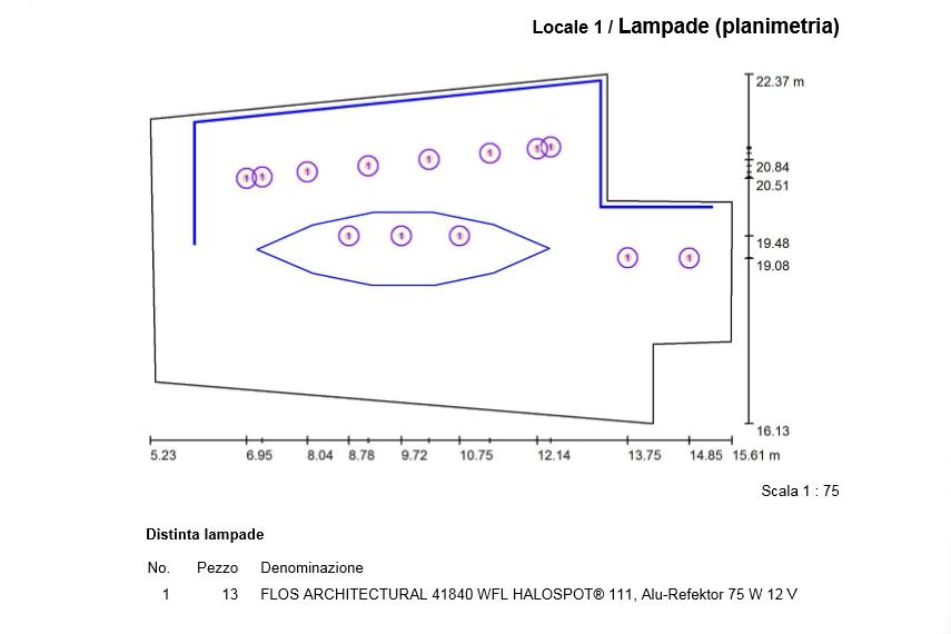 Lampade Planimetria