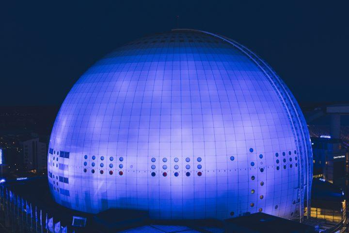 Osram_ESC_Globe Arena Stockholm_blau_blue