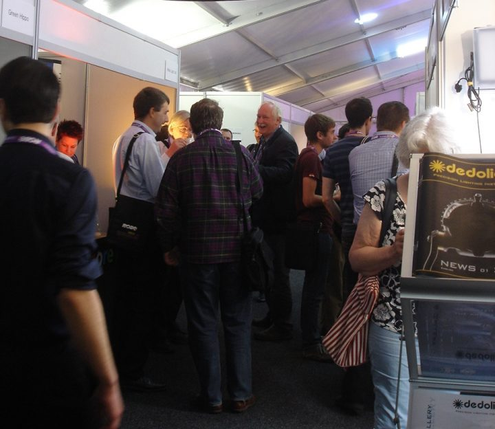 The busy exhibitor area for Showlight 2013