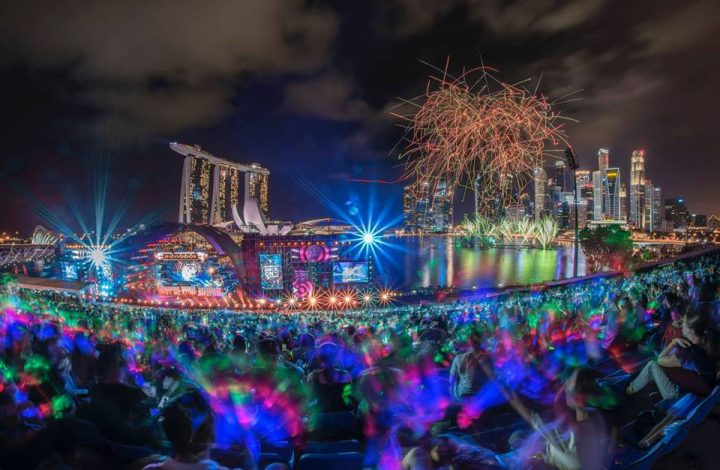 Claypaky Mythos A Singapore Per Il Light Show Di Capodanno