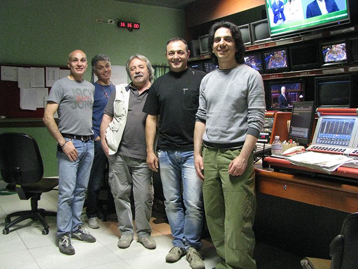 Franco Randano e lo staff Luci