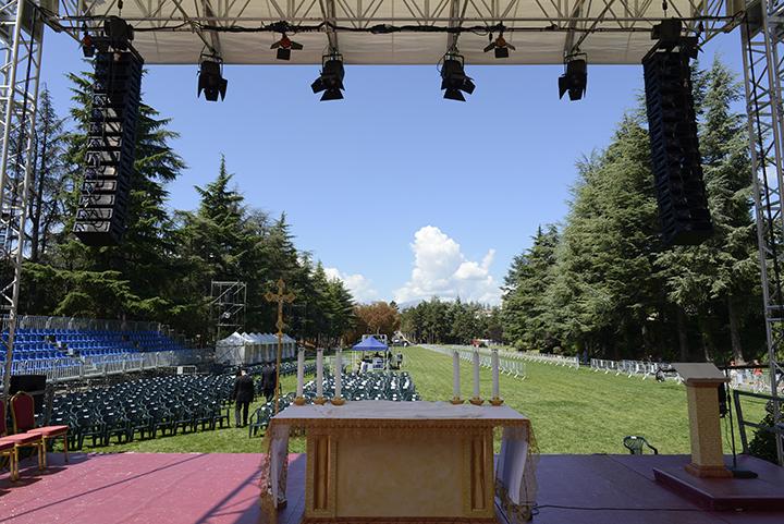 Il palco di Collemaggio